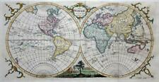 THE WORLD  BY THOMAS KITCHIN c1777  GENUINE ANTIQUE COPPER ENGRAVED  MAP