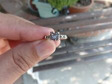 ALEXANDRITE GEMS 14K WHITE GOLD RING NATURAL COLOR CHANGE