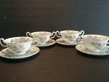 Set of 4 Wedgwood Avon W3983 Double Handled Cream Soup Bowl - Excellent