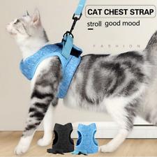 Cat Puppy Harness Safe Fit Breathable Pets Escape Proof Soft Mesh Vest Harnesses