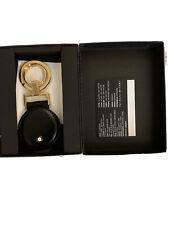 Montblanc SCHLUSSELANHANGER Key Fob / Ring Genuine Leather Keyring Keychain