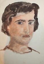 Portrait vintage watercolor painting