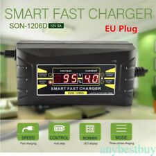 12V/6A Multifunction Car Motorcycle Fast Leadacid Battery Charger LCD Display EU