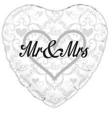 "WEDDING PARTY SUPPLIES 18"" MR & MRS WEDDING COUPLE OAKTREE FOIL BALLOON"
