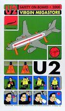 U2 POSTER Virgin Megastore Promo Firehouse Chuck Sperry Limited Silkscreen