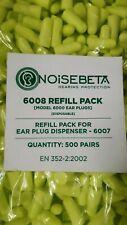 500 PAIRS REFILL NOISEBETA HP6000 DISPOSABLE PU FOAM EAR PLUGS EARPLUG 34dB