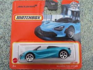 Matchbox 2021 #020/100 McLAREN 720s SPIDER blue CaseB