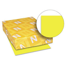 Neenah Paper Astrobrights Colored Card Stock 65 lb. 8-1/2 x 11 Lift-Off Lemon