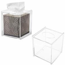 MyGift Clear Acrylic Square Tissue Box Covers Set of 2