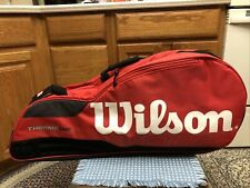 Wilson Tour Thermoguard Insulated Multi Tennis Racket Bag Backpack Red & White