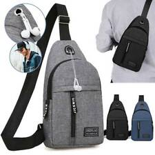 Mens Crossbody Bag Pack Travel Sport Shoulder Sling Backpack Sling Chest Outdoor