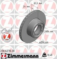 2x ZIMMERMANN Bremsscheibe Bremsscheiben Satz Bremsen COAT Z Hinten 230.6270.20