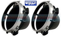 """PAIR OF WIPAC 5 3/4"""" 5.75"""" INCH HEADLIGHT / HEADLAMP MOUNTING / BACKING BOWLS"""