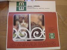 1977 calendrier MUTUELLES DU MANS les animaux familiers chat chien ...