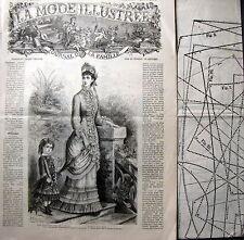 LA MODE ILLUSTREE + PATRON,  n° 27/1879 Voir modèles à réaliser, FRENCH PATTERN
