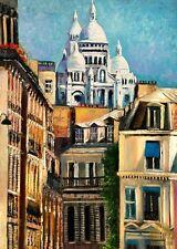 Paris City Montmartre Street Sacre Coeur Ltd Edition ACEO Print Art Yary Dluhos