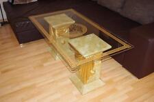 Couchtisch Wohnzimmertisch Medusa Tisch Glastisch Marmor Versa Serie 128cmx70cm