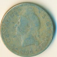 1952 DOMINICAN REPUBLIC  / 5 CENTAVOS    #WT6452