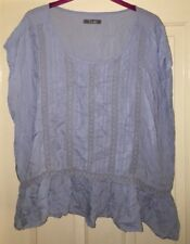 South Size 18 Blue Top With Lace Design