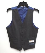 Nautica Mens Size Small Grey & Blue Checkered Windward Suit Dress Vest New