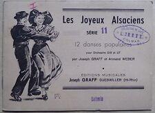 #) partition LES JOYEUX ALSACIENS série 11 - danses populaires - batterie