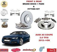 para AUDI A5 Coupe Quattro 2.0 TFSI 2012- > Frontal + freno Trasero Discos Y