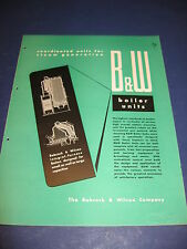 B&W Boilers 1948 catalog Babcock & Wilcox Co Asbestos History