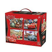 CHILDRENS KIDS DISNEY CARS LIGHTNING MCQUEEN FOUR JIGSAW PUZZLE BOX SET k05100