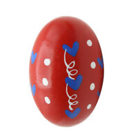 1Pc Red Wooden Sand Egg Children Kids Educational Instruments Musical Toys