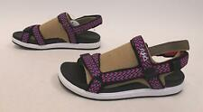 Ryka Women's Lapis River Comfort Sandals GG8 Black Nylon Size 11M