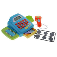 Pretend Play Electronic Cash Register Kids Child Realistic Actions Toy Games