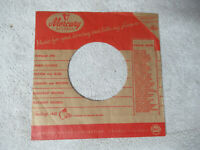 sleeve only MERCURY tear off corner    45 record company sleeve only    45