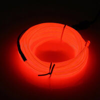 Rot 2M Neon LED EL Draht Kabel Lampe DC12V Glow String Licht Tube Dekoration