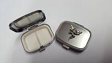 Small Fairy PP-G26 English Pewter Emblem on a Rectangular Metal Pill Box