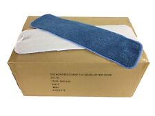 """100 Case 18"""" Looped Microfiber Mop Pads Wet/Dry Refill 300GSM, Economy (Blue)"""