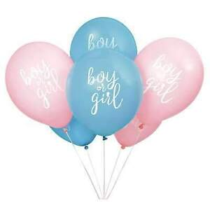 Gender Reveal Balloons Boy or Girl 8 Pink Blue Latex Party Decorations Helium