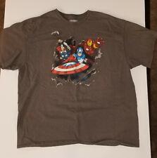 Avengers Iron Man Captain America Thor T-Shirt Marvel Comics 2XL