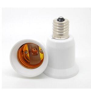 E17 to E27 Socket Base LED Halogen Light Bulb Lamp Adapter Converter Holder