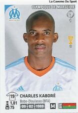 N°210 CHARLES KABORE # BURKINA MARSEILLE OM VIGNETTE STICKER  PANINI FOOT 2013