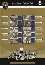 2012 - Notts County Fc - Commemorative/Smilers Stamp Sheet - Css-012