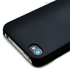 Black Ultra Thin Rubberized Matte Hard Case iPhone 4G 4S w/ Screen Protector