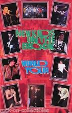 NEW KIDS ON THE BLOCK 1990 WORLD TOUR PROMO POSTER ORIGINAL