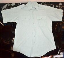US Army Men's Dress Green Uniform Shirt Short Sleeve 15 1/2 Military GUC