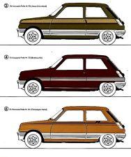 Renault 5 r5 Youngtimer idée prospectus brochure avec couleurs colour décor rayures