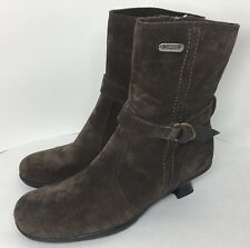 New Pajar Canada Women's 6-6.5 Fashion Winter Insulated Boots Pumps Suede Brown