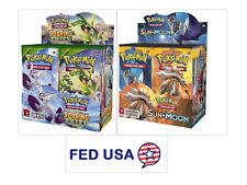Roaring Skies Pokemon Booster Box + Sun & Moon Booster Box Trading Cards Packs
