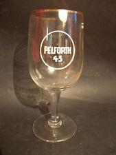 Superbe verre à bière PELFORTH 43 années 1960 brasserie Pelforth hauteur 17 cm