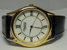 CARAVELLE BY BULOVA MEN'S GOLD TONE WATCH WATER RESISTANT STAINLESS  42A57