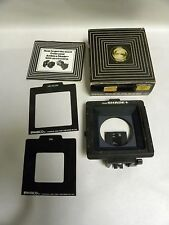Vintage Ambico Cat. No. 902 The Shade 2 1/4 Camera Lens Hood Bellows (A8)
