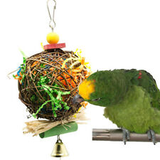 New listing Pet Bird Parrot Swing Cage Toy Foraging Toys Chew Bites for Parakeet Swing